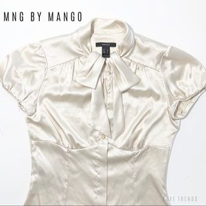 MNG SUIT - Cream Blouse🛍